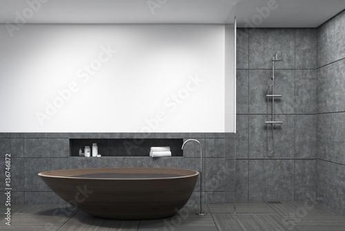 Cadres-photo bureau Pays d Europe Bathroom with dark wooden tub