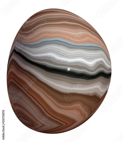 Polished  Onyx Pebble Canvas Print