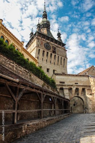 Fotografie, Obraz  The old town center of Sighisoara, Romania