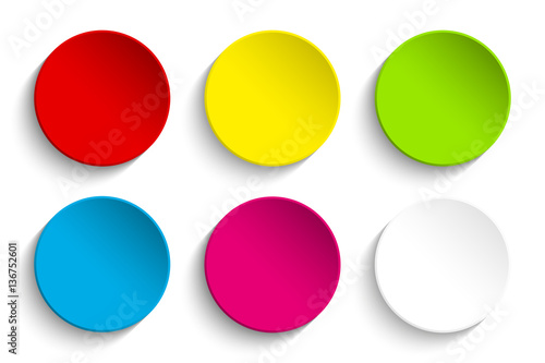Photo  Set of Colorful Buttons