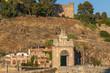 Gate at the Alcantara Bridge in Toledo, Spain