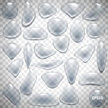 Transparent Water Drops Set. V...
