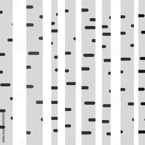 Naklejki na meble Brzozy płaska ilustracja na białym tle