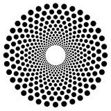 Kropkowany okrągły kształt, element. Abstrakcyjny motyw z koła - 136772690