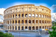 Aerial View Of Colosseo, Colos...
