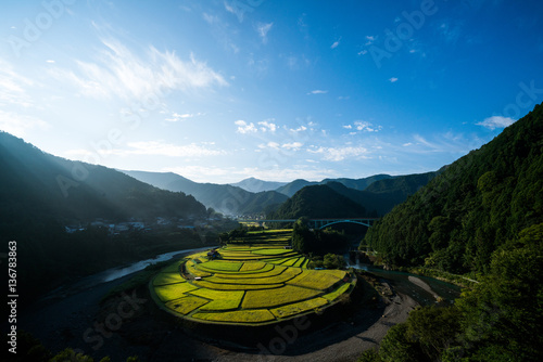 Fotobehang Rijstvelden Aragishima rice terraced field,Wakayama,Japan