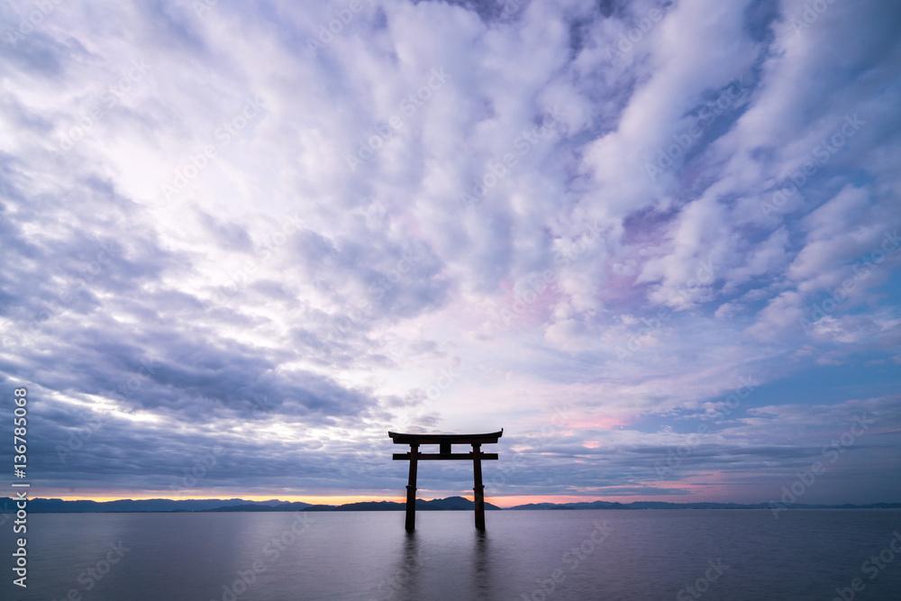 Fototapety, obrazy: Shirahige-shrine at Biwa-lake,Takashima city,Shiga,japan