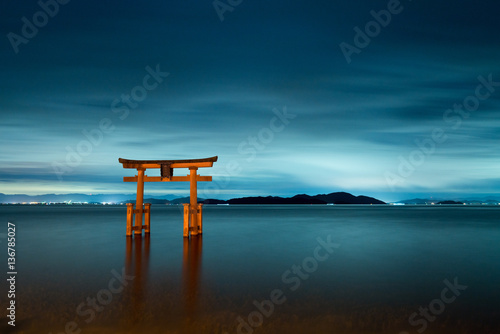Canvas Prints Japan Shirahige-shrine at Biwa-lake,Takashima city,Shiga,japan