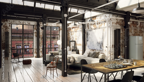 Vintage Loft industrial downtown apartment - Backstein Loft Apartment Innenstadt