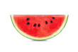 canvas print picture - Sliced of watermelon isolated on white background.