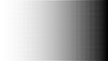 Halftone Pattern Background, Square Spot Shapes, Vintage Or Retro Graphic With Place For Your Text. Halftone Digital Effect.