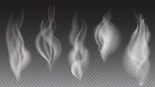 White Smoke Waves On Transpare...