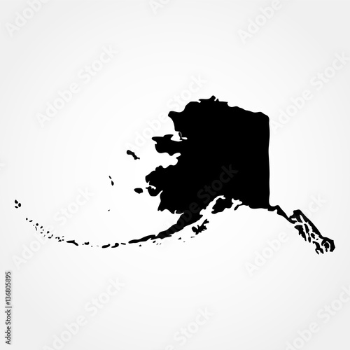 Map of the U.S. state of Alaska  Wall mural