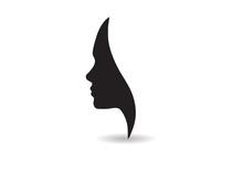 Vector Women Face Silhouette I...