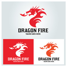Dragon Fire Logo Design Templa...
