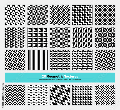 Geometric Seamless Pattern Pack 001 Wall mural