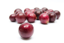 Muscadines On White