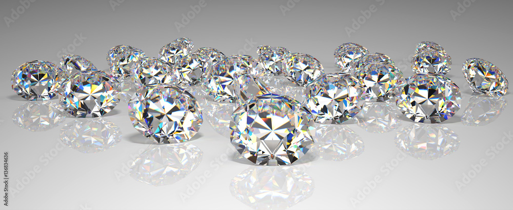 Fototapeta scattering of precious stones