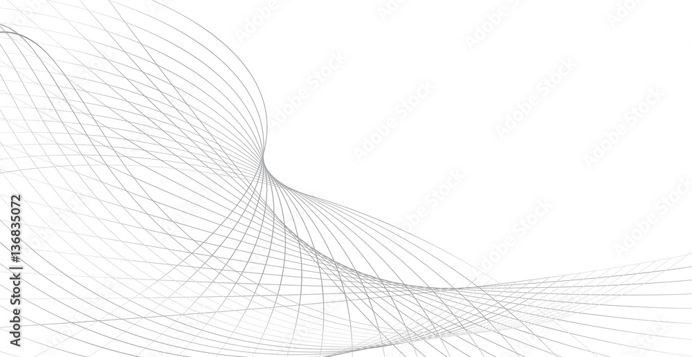 Fototapety, obrazy: business background lines wave abstract stripe design