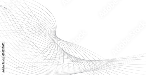 Fotobehang Abstract wave business background lines wave abstract stripe design