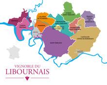 Carte Vignoble Du Libournais
