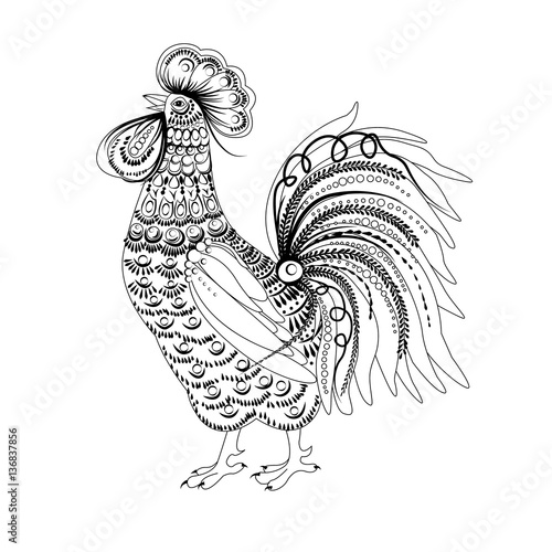 Fotografering  Cock vector illustration