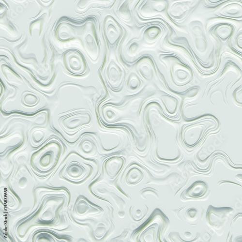 Art abstract white fractal pattern 3d rendering