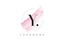 Y Letter Logo With Pastel Wate...