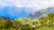 Amazing View Of The Kalalau Valley And The Na Pali Coast, Kauai