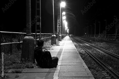 Plakaty czarno białe   waiting