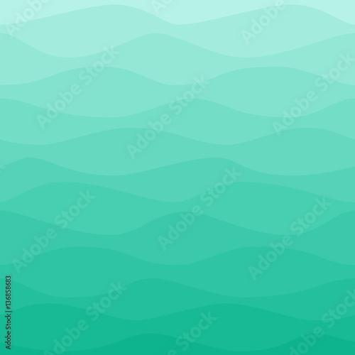 Fotografia, Obraz Gradual wavy blue turquoise background