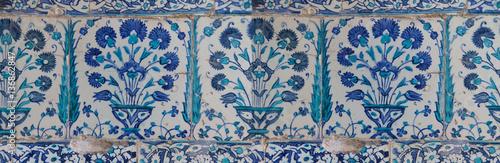 Poster  Iznik lapis  tiles with tulip