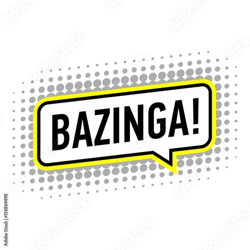 Bazinga icon, pop art style Canvas Print