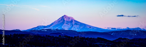 Mt Hood in the Fading Light Wallpaper Mural