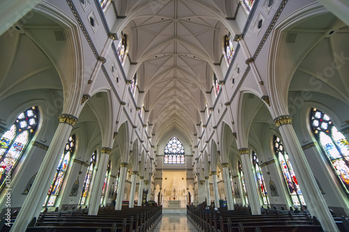 Fotografie, Obraz  Cathedral of Saint John the Baptist interior, Charleston