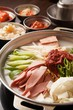 budae jjigae is korean style stew, korean traditional soup,