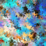 Mosaic backgrounds - vector illustration