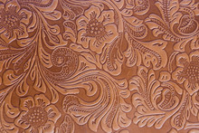 Leather Embossed Floral Pattern.