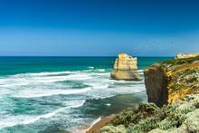 Great Ocean Road Seagulls Over...