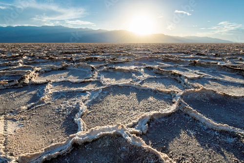 Poster Parc Naturel Sunset over Badwater basin, Death Valley National Park, California.