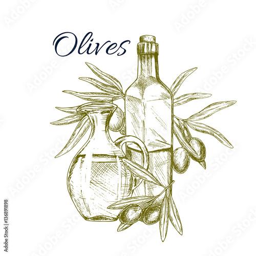 ilustracja-oliwa-z-oliwek-szkic-z-oliwkami-zielony-kolor
