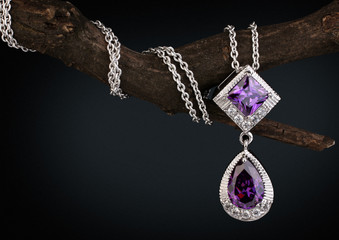 Jewelry  pendant witht gem ...
