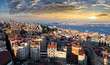 Istanbul skyline at sunset, Turkey