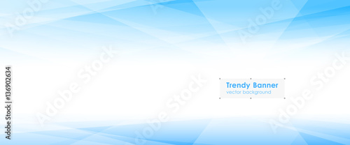 LowPoly Trendy Banner with copyspace Tablou Canvas