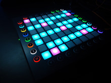 Glowing Launchpad On Black Bac...