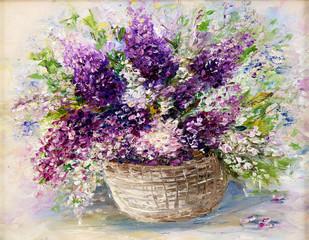 Panel Szklany Lawenda Lavender bouquet