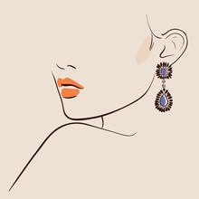 Beautiful Woman Wearing Earrings