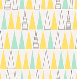 seamless hand drawn pattern with triangles - 136935297