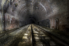 Abandoned Railroad Tunnel With...