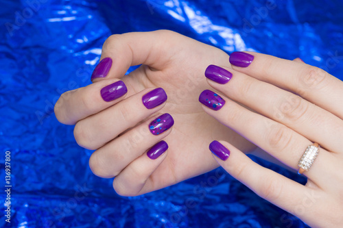 Beautiful woman's hands. Natural nails and manicure. Spa procedure.
